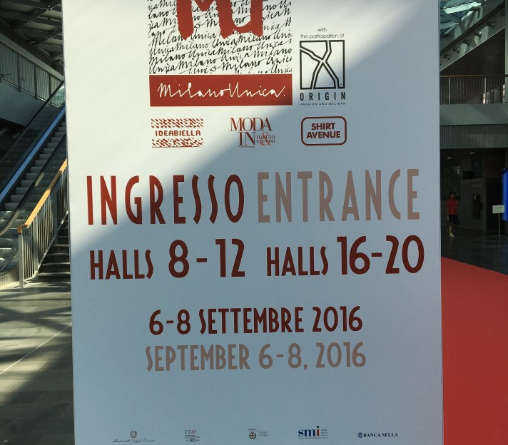 Report from Milano Unica 6-7-8 September 2016